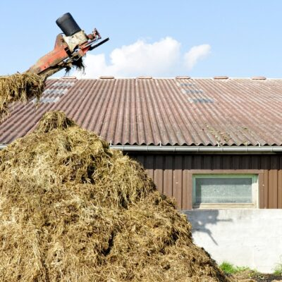 cowbarn roofing, cattle shed guttering and downpipes, rainwater systems
