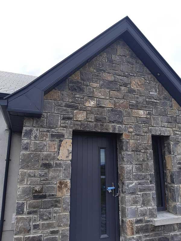 grey aluminium facia and soffit installation